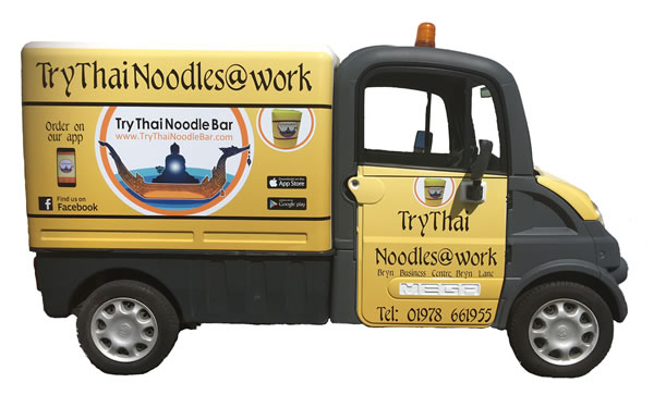 Try Thai Noodles @ Work Electric Van